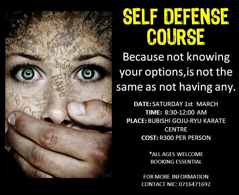 Self Defense Brochure Self Defense Flyer